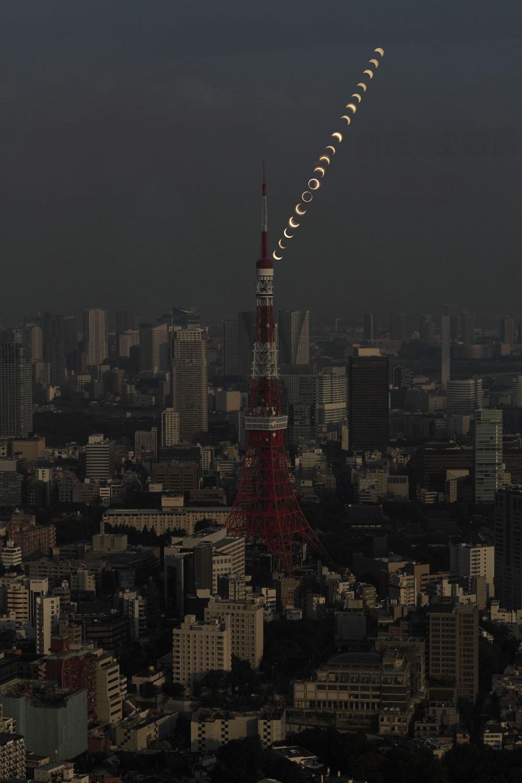 東京タワーと金環日蝕