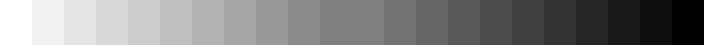 図 2 モニターの調整用の画像(5 %毎)